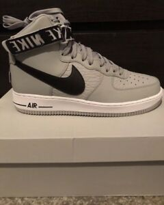 Details about Men's Nike Air Force One High Size 11.5 NBA Silver Grey Black Authentic New