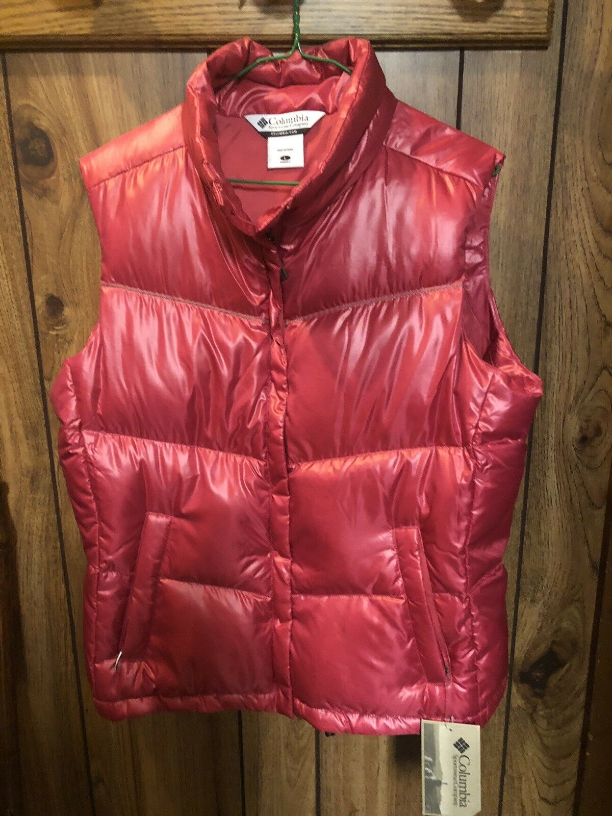 Columbia  Winter Vest - Women's Size Large Hot Pink Down-feathers NWT