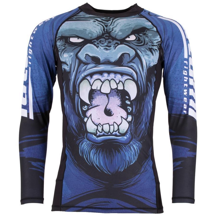 Tatami Gorilla Smash BJJ Rash Guard Long Sleeve Mens Jiu Jitsu Compression MMA