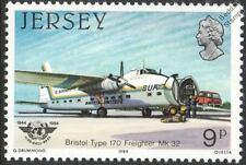 BUA BRISTOL TYPE 170 FREIGHTER Mk.32 Aircraft Stamp (1984 Jersey)
