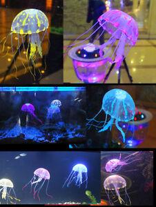 "UE27 5.5"" Glowing Effect Artificial Jellyfish Fish Tank Aquarium Decoration | eBay"