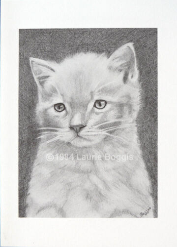 Kitten Note Cards 10-pack Cat Drawing Original Art