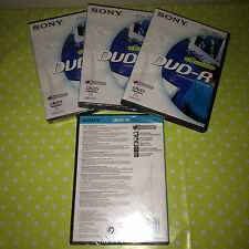 Sony Blank DVD Recordable 3 x NEW and 1 USED DVD-R 4.7 GB / 120 MINS / 2 HRS