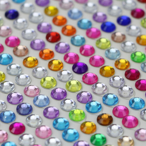 New Crystal Diamante Self Adhesive Stick Rhinestone Gem Charming Decor Wholesale