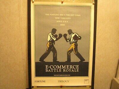 Limited Edition Serigraph Poster ECommerce Battle Royale 2000 Event Uncirculated