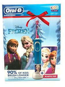 Oral B Kids Elektrische Zahnburste Kinder Geschenkset Frozen Inkl Becher Ebay