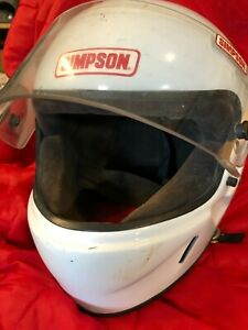 SIMPSON-MOTORCYCLE-HELMET-Full-Face-WHITE-Size-7-3-8