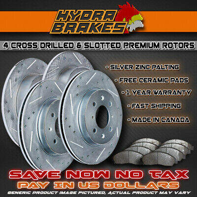 FRONT Drill Slot BRAKE ROTORS /& CERAMIC Pads For 2007 2008 2009 2010-2012 CX7
