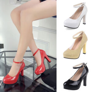 Classic-Wedding-Party-Fashion-Kitten-High-Heels-Womens-Pumps-Court-Shoes-Size