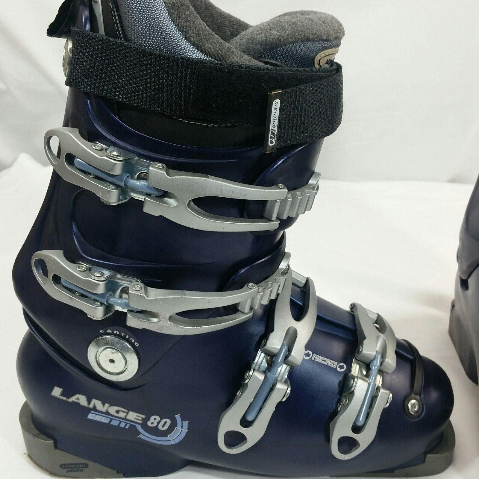 blueE Lange womens jr 291mm  7.5 cal crl  80 ski boots near mint woman Jr  100% fit guarantee