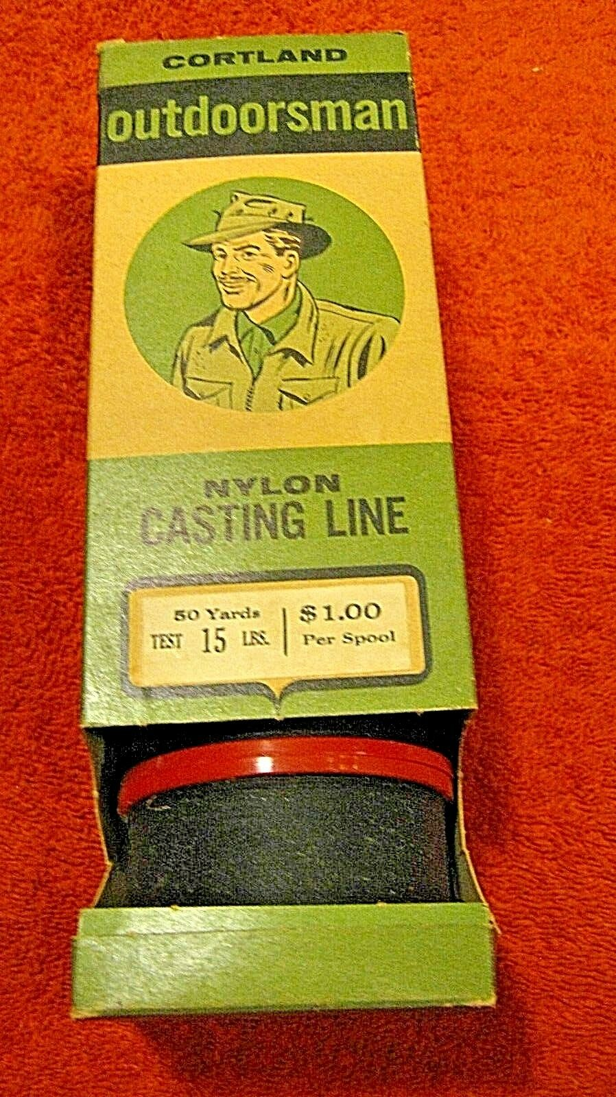 CORTLAND OUTDOORSMAN  NYLON Casting line and sales display-5 connected spools  sell like hot cakes