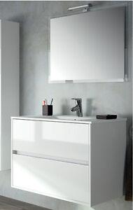 Lavabo Ceramica Per Bagno.Mobile Bagno Sospeso Moderno Bianco Lucido 70 Cm Lavabo Ceramica