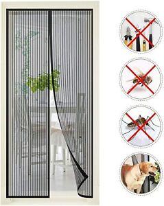 Kit-Rideau-Moustiquaire-de-porte-Fermeture-magnetique-100x210cm-Anti-moustiques