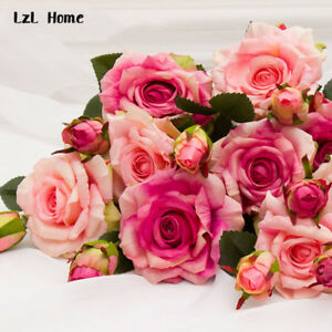 Real touch rose artificial silk flowers peony bridal wedding bouquet image is loading real touch rose artificial silk flowers peony bridal mightylinksfo