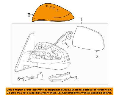 TOYOTA OEM 4Runner Door Side Rear View-Mirror Cover Cap Trim Right 8791542160B1
