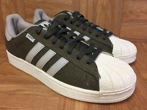 check out c6599 e1335 La foto se está cargando Raro-Adidas-Originals-Superstar-Verde -Canamo-Talla-8-