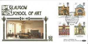 22-Carat-Gold-Benham-Official-First-Day-Cover-1990-Glasgow-School-Of-Art-G040