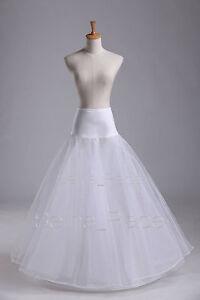 White-A-Line-1-Hoop-Wedding-Dress-Bridal-Promo-Crinoline-Petticoat-Skirt-Slips