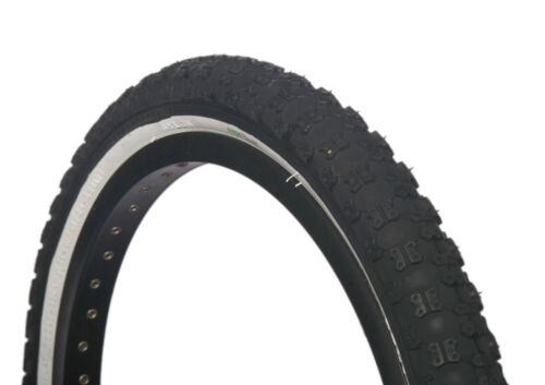 1 of COLOURED BMX TYRE TIRE BLACK WHITE WALL FOLDABLE 20 X 2.125 S101 ON SALE!