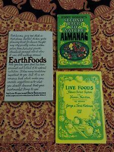 Vintage Health Food Book Lot Nutrition Homesteading Earth Cookbook Jerry Baker