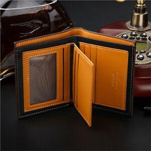 Mens-Leather-Bifold-ID-Card-Holder-Wallet-Billfold-Handbag-Slim-Clutch-New-Gifts