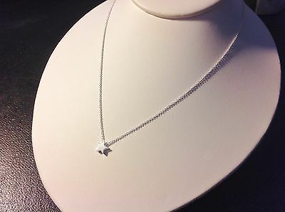 Little Star Necklace-Solid Sterling Silver 925-Tiny-Layering-Slider-Adjustable