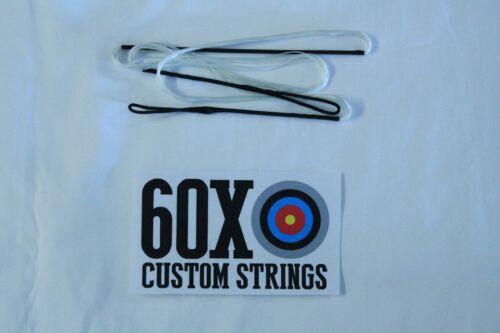 "62/"" 16 Strand Blanc Dacron B50 Longbow ARC par 60X Custom Cordes Bow"