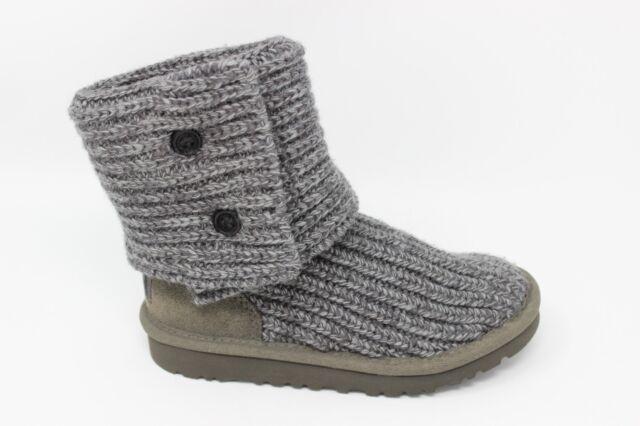 d42d499399a UGG Australia K Cardy 5649 Slouch BOOTS Wool/ Sheepskin Kids Size 2 Gray