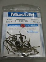 Mustad Signature Fly Hooks CK52S (Popper) size 4 - Qty 25 (NEW)