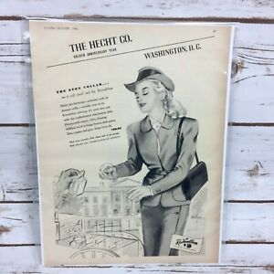 Vintage-1946-Rosenblum-The-Hecht-Co-The-Eton-Collar-Original-Print-Ad-Charm