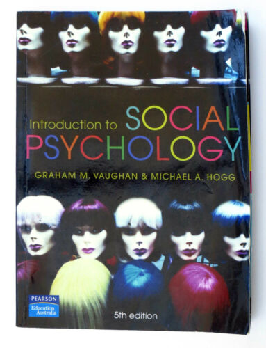 1 of 1 - Introduction to Social Psychology by Michael A. Hogg, Graham M. Vaughan...