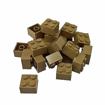 LEGO Dark Tan Brick 1x2 25 to 500 Pieces Masonry -