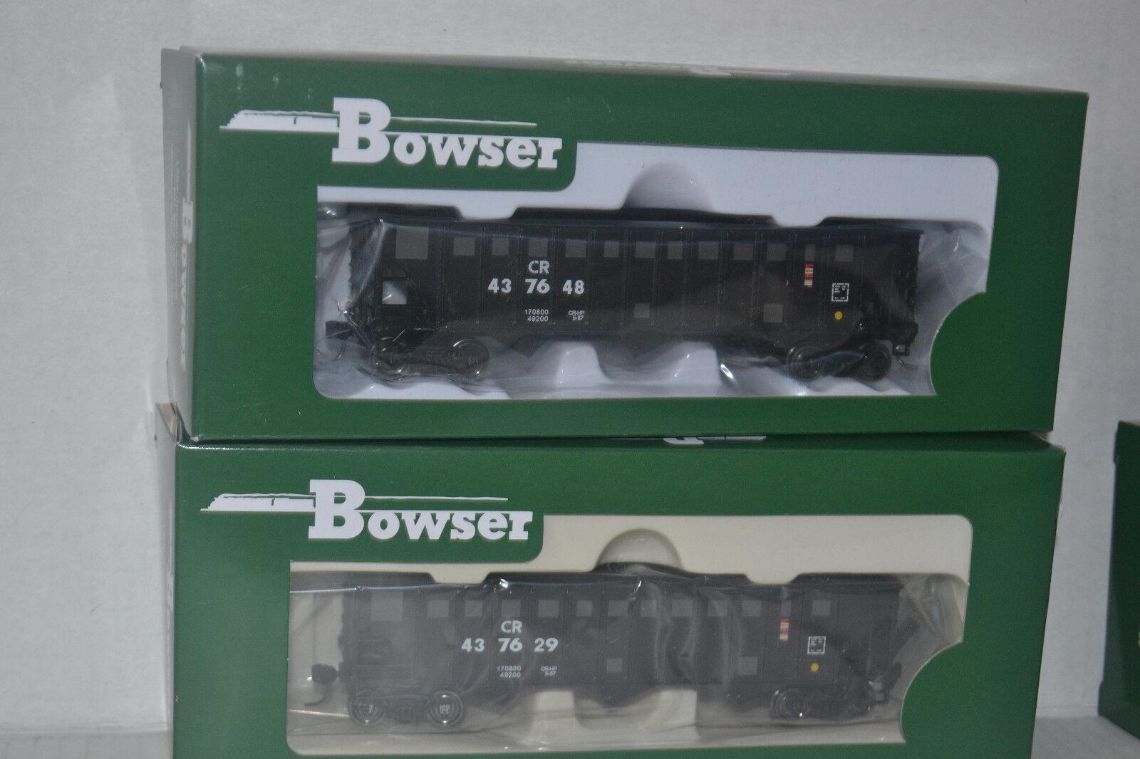 2 Bowser CR Patch 70t 12 Panel Hopper Ho Scale 41249, 41250