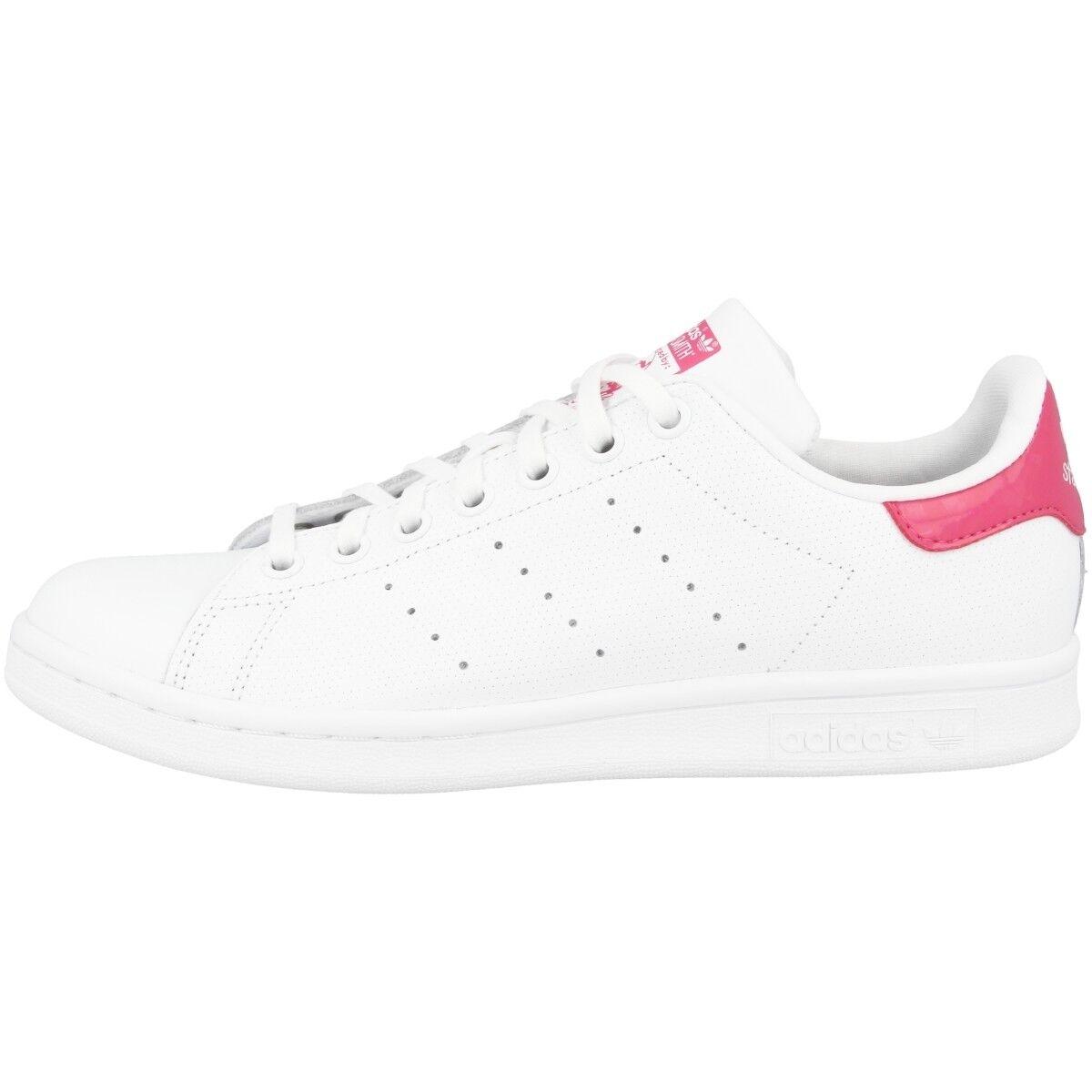 Adidas Stan Smith J Schuhe Originals Retro Freizeit Sneaker WEISS pink DB1207