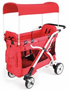 Wonderfold-Wagon-MJ04-Multi-Function-Baby-Double-Folding-Stroller-Red