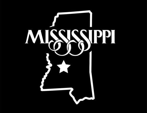 State Of Mississippi Decal Sticker5.5-Inches By 5.2-Inches