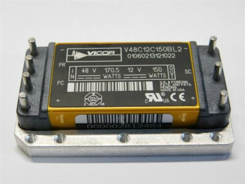 Vicor V48C12C150BL2 48V 170.5W Input Micro Family DC//DC Converter 12V 150W Out