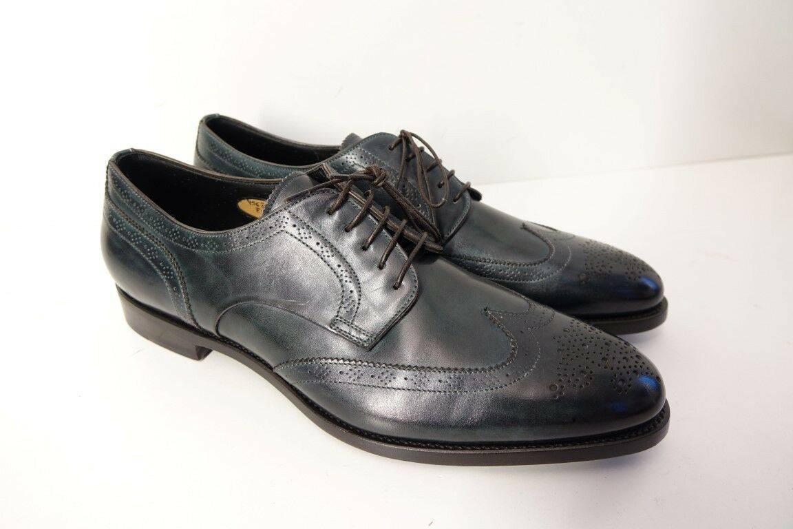SANTONI Schuhe Herrenschuhe Businessschuhe - NEU/ORIGINAL GR. 9 (43) - NEU/ORIGINAL - 29fa02