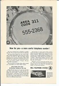 1961 Bell Telephone Useful Telephone Number Vintage Print Ad