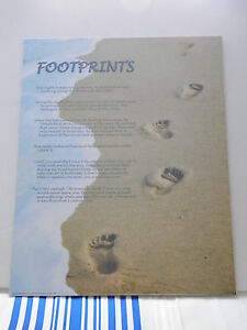 16-034-x-20-034-Art-Poster-Footprints-in-the-Sand-Inspirational-Christian-Poem-Verse