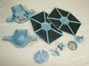 STAR-WARS-Blue-Imperial-Tie-Fighter-1995-Vehicle-FOR-PARTS-ONLY