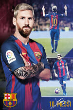 LIONEL MESSI COLLAGE - BARCELONA POSTER - 24x36 FOOTBALL SOCCER FC 34204