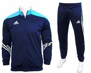 Adidas-Full-Men-039-s-Tracksuit-Zipped-Jogging-Top-Bottoms-Pants-Jumper-3-Striped