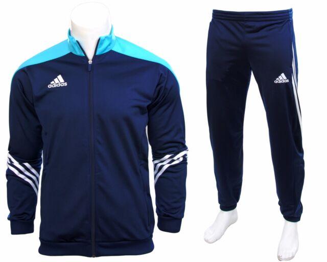 Adidas Full Men's Tracksuit  Zipped Jogging Top Bottoms Pants Jumper 3 Striped