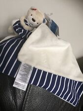 MOTHERCARE BLUE Whale BAY BLANKIE STRIPY COMFORTER BABY SOFT TOY NEW WITH TAG B4
