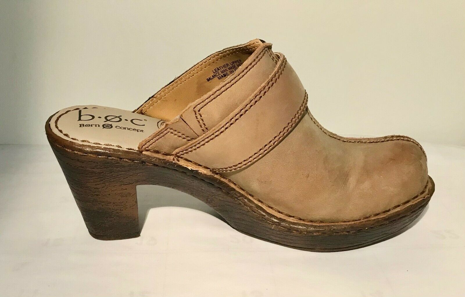 Born Leather Gray Sandals w/buckles Size 7/38 Was… - image 2