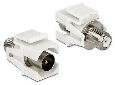 keystone snap-in modul einbau adapter sat f buchse an iec (koax/koaxial) stecker