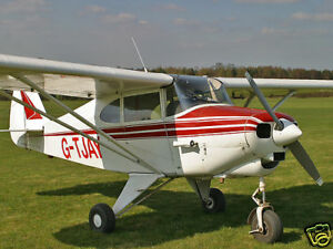 Details about Giant 1/4 Scale Piper PA-22 Tri-Pacer Plans and Templates 89ws