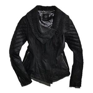 Leath Slim Black Sherpa Fit Womens davidson® Fleece Harley Spray Accented Vasket PpwqBAWx6