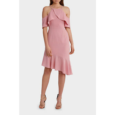 NEW Wayne Cooper Zeplen Frill Dress Pink